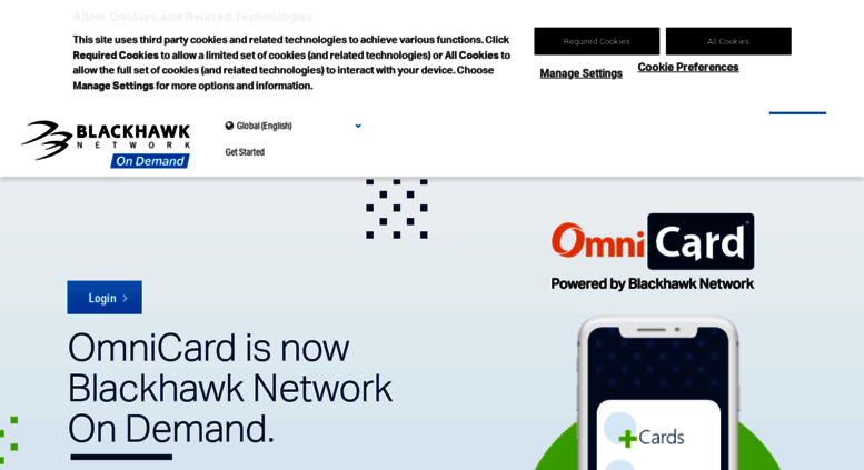 Access omnicard.com. Prepaid cards, including Visa gift cards, for incentive programs - OmniCard