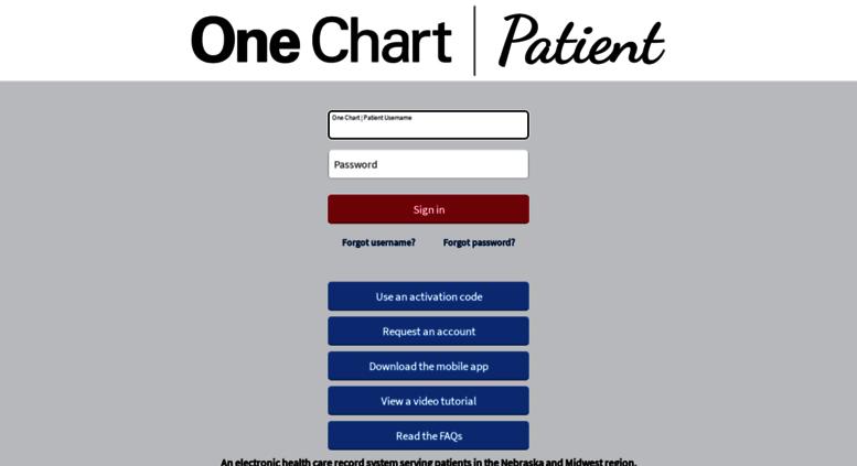 Access Onechartpatient One Chart Patient