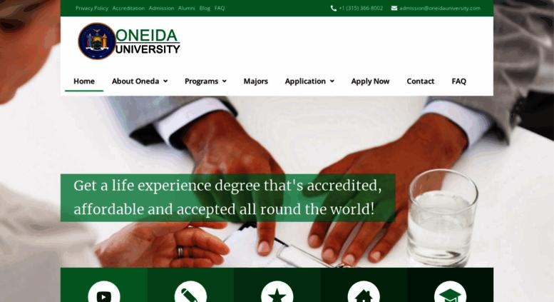 Access oneidauniversity com  Online Accredited Life Experience