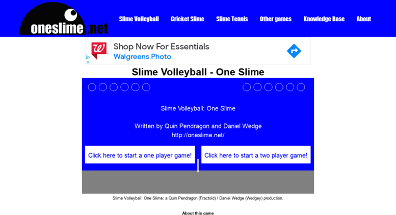 Access oneslime net  Slime Volleyball: One Slime