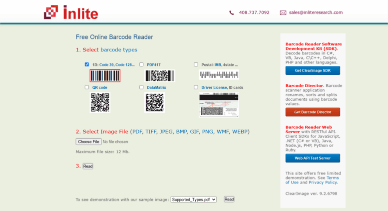 Barcode Scanner Sdk For The Web