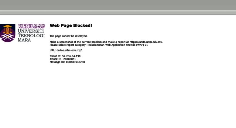Access Online Uitm Edu My Portal Kemasukan Pelajar Universiti Teknologi Mara