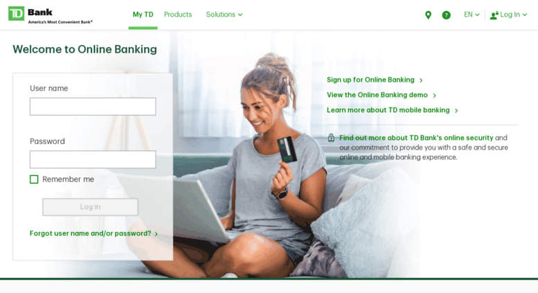 Madison : How to login to td online banking