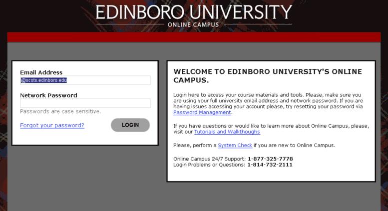 Access onlinecampus edinboro edu  Login with Ellucian Ethos