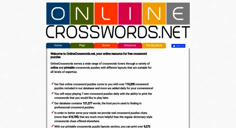 graphic about Onlinecrosswords Net Printable Daily known as Get to . - Absolutely free