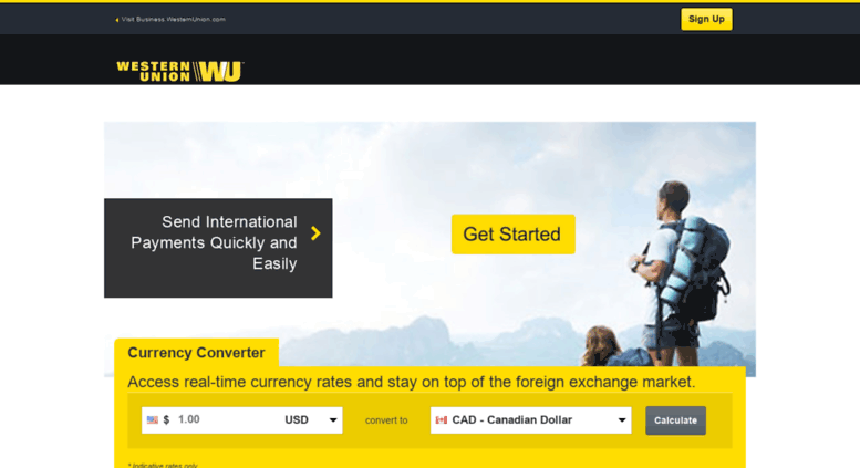 Westernunion Ca Send A Money Transfer