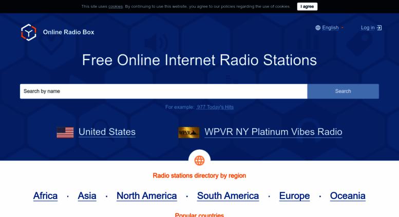 Access onlineradiobox.com. Free online radio stations ...