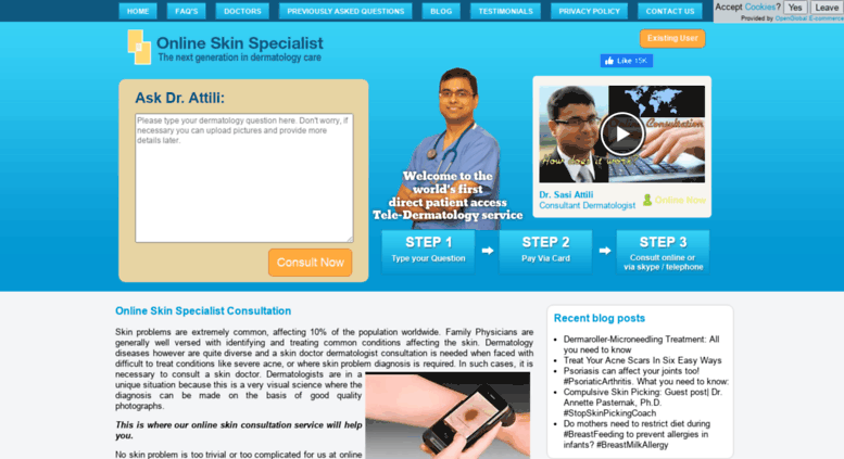 Access onlineskinspecialist com  Online Skin Specialist