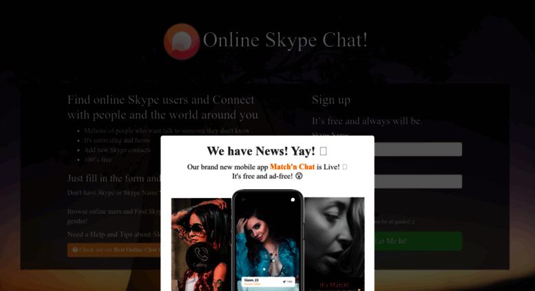 Access onlineskypechat com  Find Online Skype Users