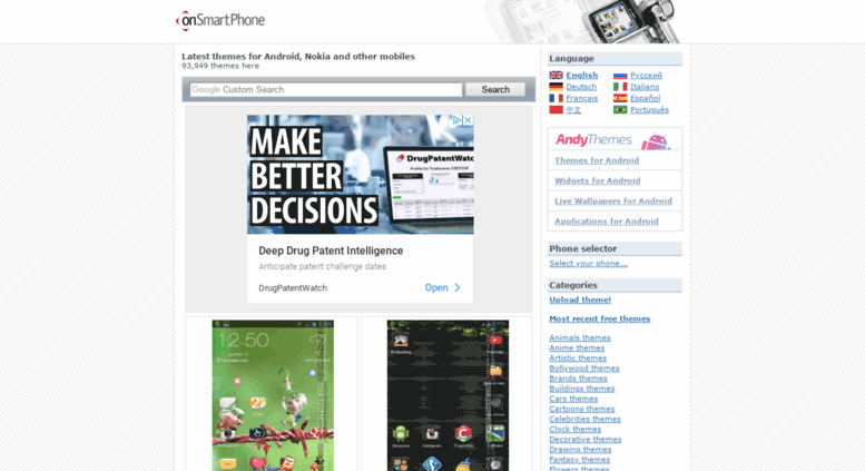 Access onsmartphone info  Free themes for Android, Nokia and other