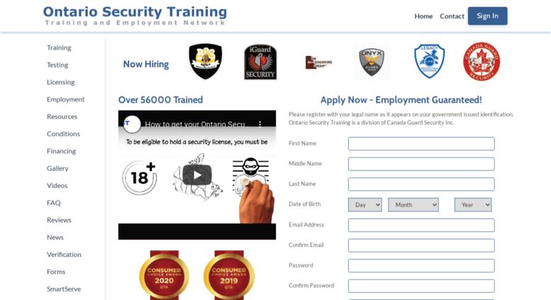 Access Ontariolicensingcentrecom Ontario Security Training Home