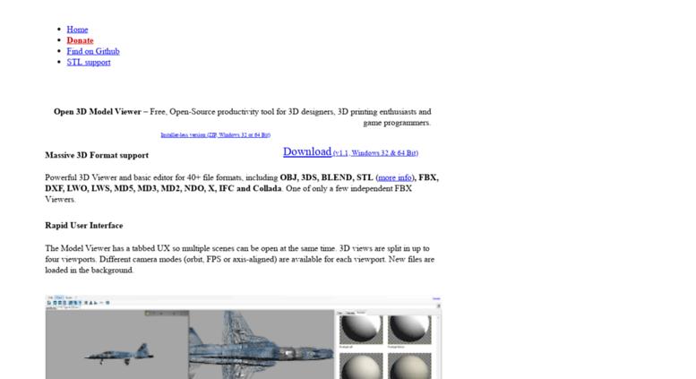Access open3mod com  Open 3D Model Viewer - Free