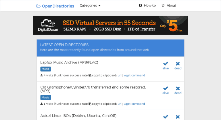 Access opendirectories technabled com  Open Directory