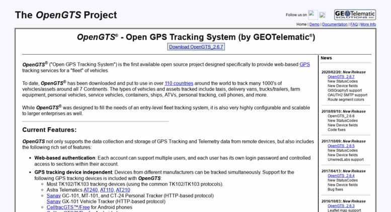 Access opengts org  GPS Tracking: Open-Source GPS Tracking