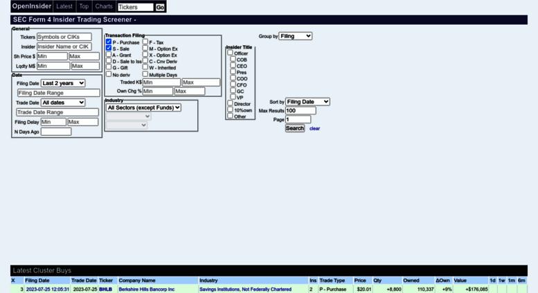 Sec Form 4 >> Access Openinsider Com Sec Form 4 Insider Trading Screener