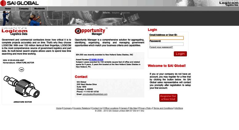 Access opm saiglobal com  SAI Global