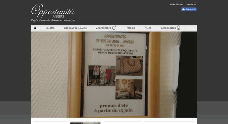 Access opportunites-angers.fr. Opportunités - Angers - Dépôt - vente ... 81016461270