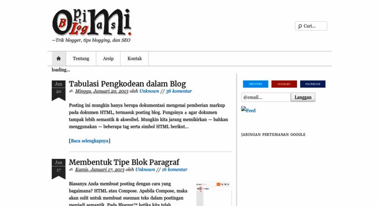 optimasi blog