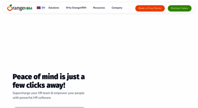 Access orangehrmlive com  HR Management System   OrangeHRM l HR
