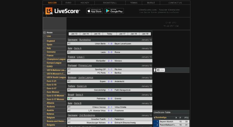 Www Livescore Soccer