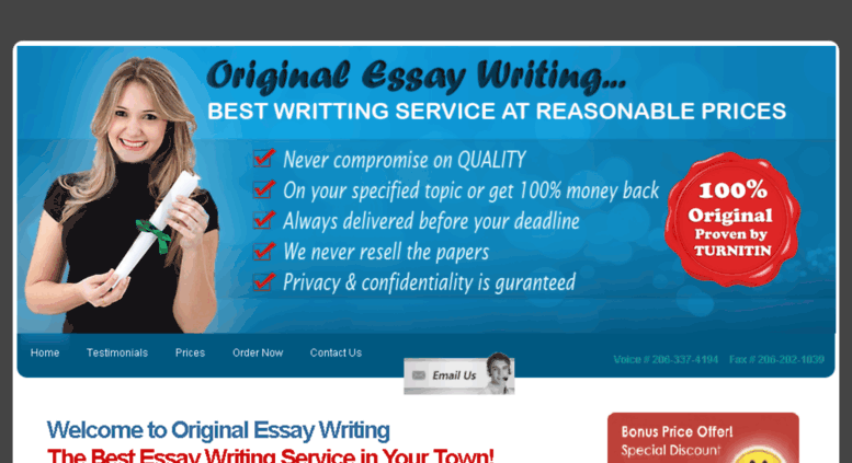 Access Originalessaywritingcom Best Custom Essay Writing Services  Originalessaywritingcom Screenshot Personal Essay Thesis Statement Examples also Library Essay In English  Essay On Healthcare