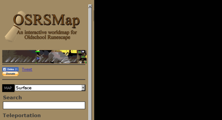 Access osrsmap.com. OSRS Interactive World Map