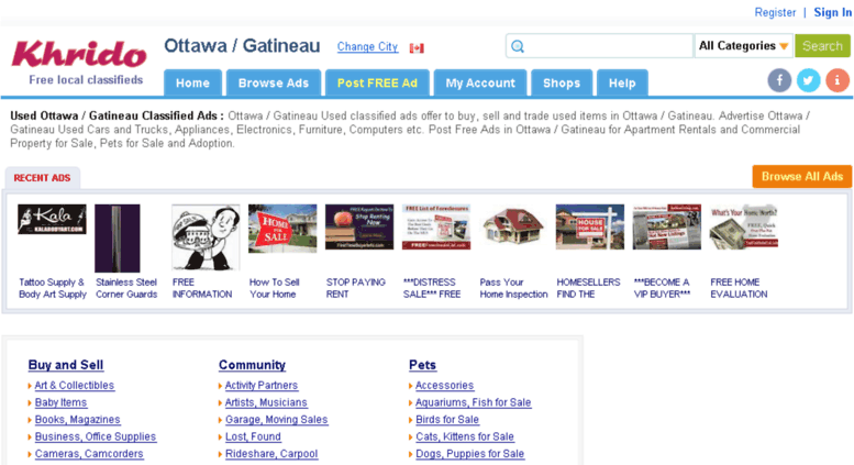 Access ottawa khrido com  Used Ottawa / Gatineau Classified