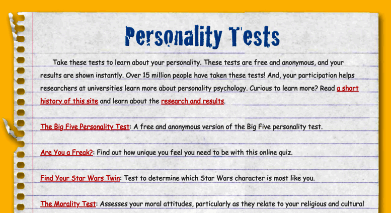 Access outofservice com  Personality Psychology Tests - www