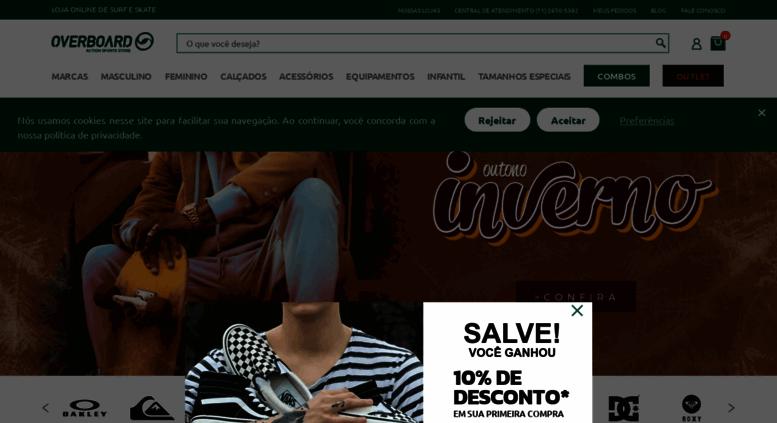 Access overboard.com.br. Overboard   Moda Surf e Skate Online 6f3e0f67e8