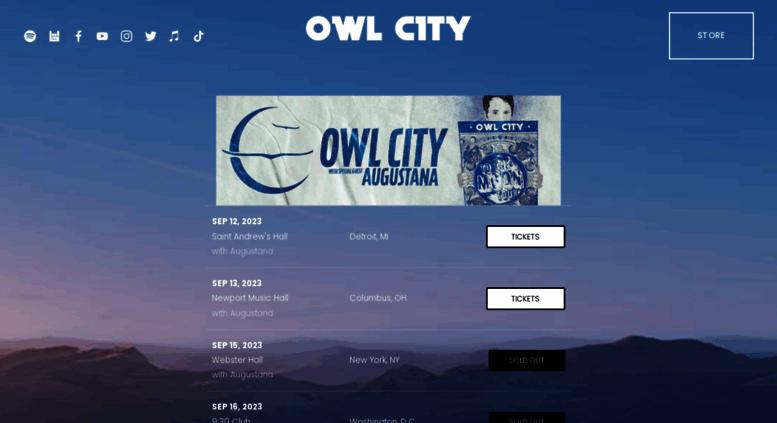 Access owlcitymusic com  Owl City   Official Site