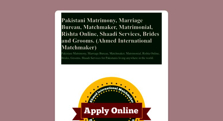 Access pakistanigroom com  Pakistani marriage bureau in USA