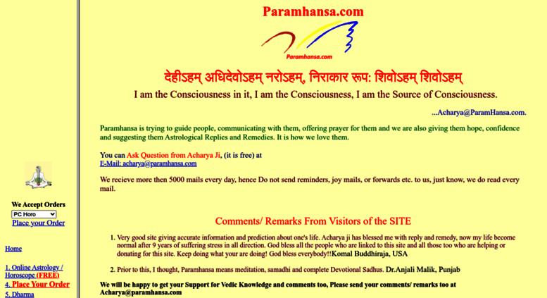 Access paramhansa com  Astrology Free Online- Paramdhaam's