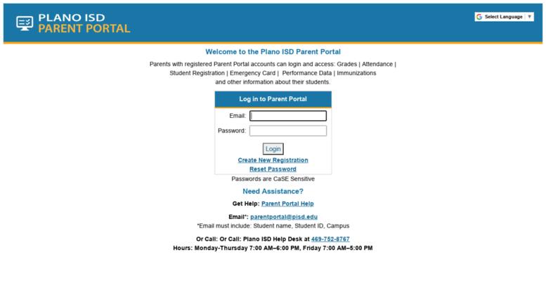 Access Parentportalpisdedu Plano Isd Parent Portal For Grades