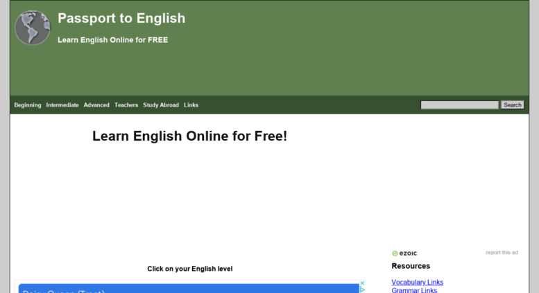 Access passporttoenglish com  Passport to English | Learn