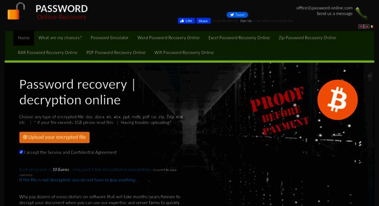 Access password-online com  Password recovery online excel