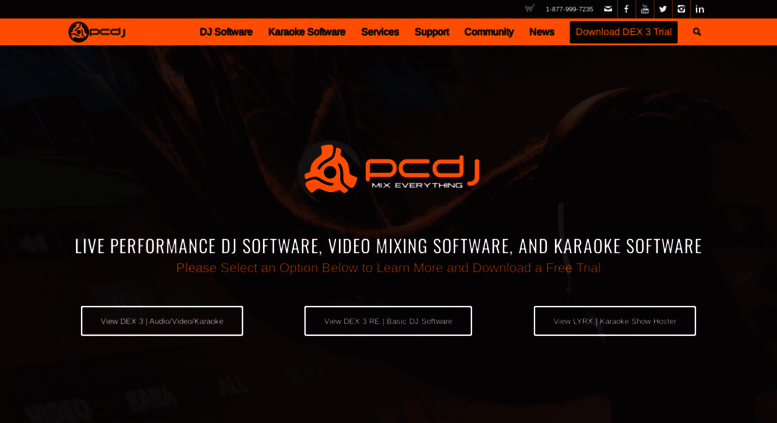 Access pcdj com  DJ Software and Karaoke Software Solutions  Mix