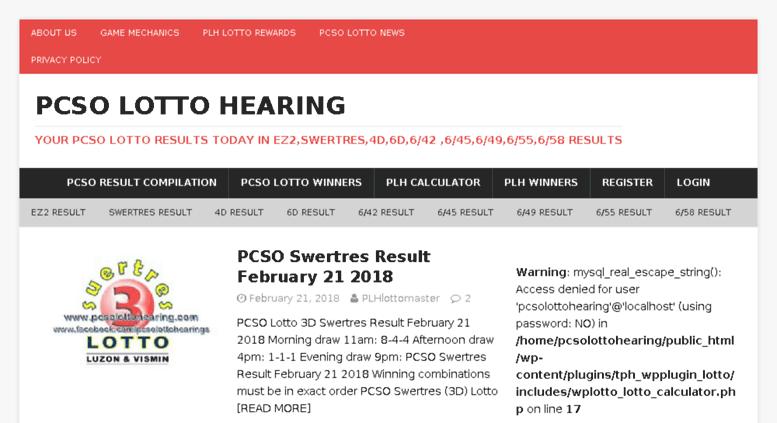 Access pcsolottohearing com  Pcso Lotto Hearing • Your PCSO Lotto