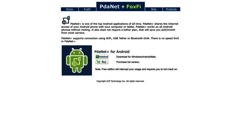 Access pdanet co  PdaNet+ -- Internet Sharing for Android