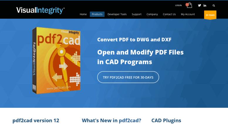 Access pdf2cad com  pdf2cad - Visual Integrity - Convert PDF