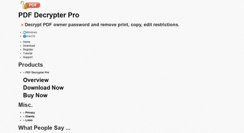 Access pdfdecrypter com  PDF Decrypter Pro (Windows & Mac OS