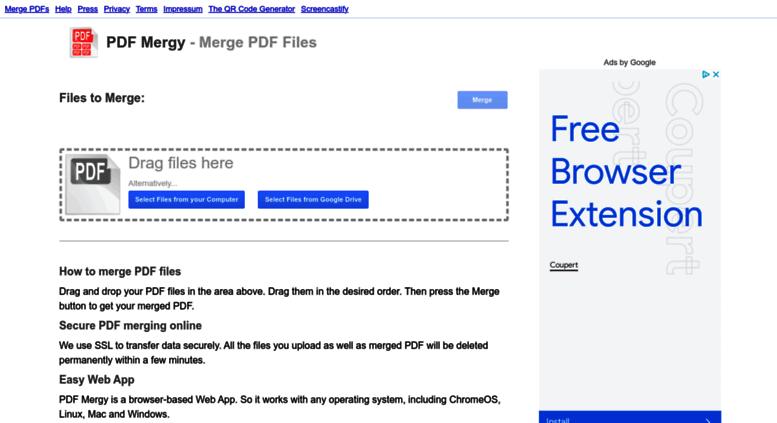 pdf merge google drive