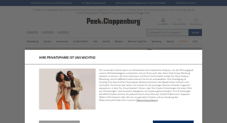 ceb22cf5a5c9d5 Access peek-cloppenburg.de. Mode Online Shop