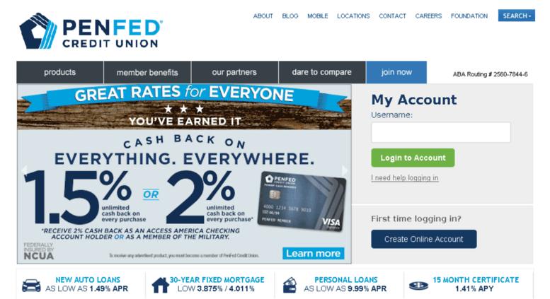 Access penfed com  Pentagon Federal Credit Union   Checking