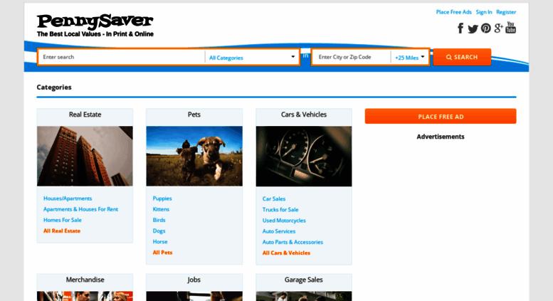 Access pennysaverusa com  PennySaver   Post Free Classified Ads
