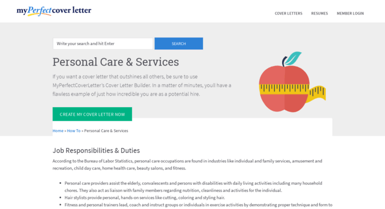 Access Personal Caremyperfectcoverletter Leading Care