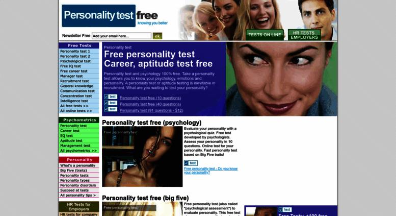 Access personalitytestfree net  Personality Test Free | +100