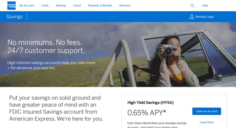 Online Savings Account >> Access Personalsavings Americanexpress Com American Express