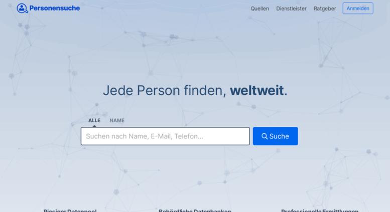 personen finden