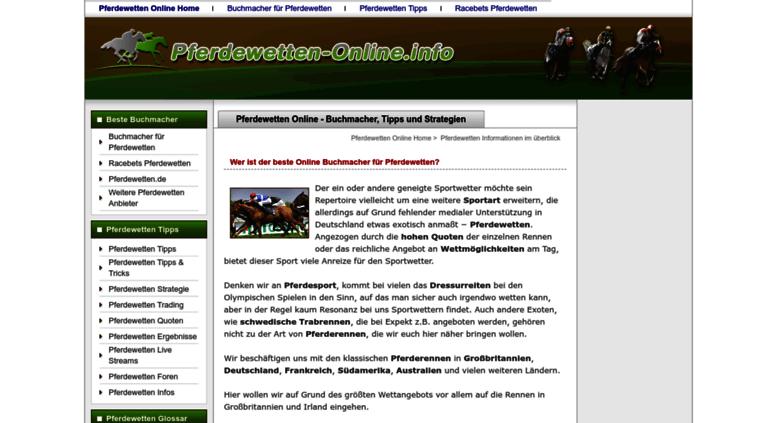 Pferdewetten Online