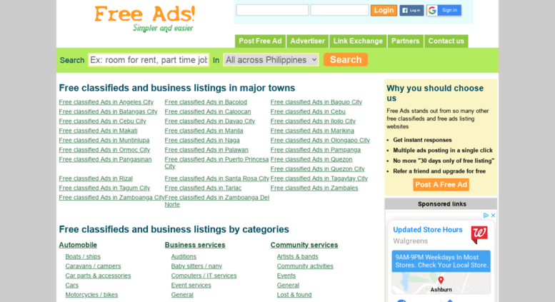Access pgfreeads com ph  Free Ads Philippines | free classifieds